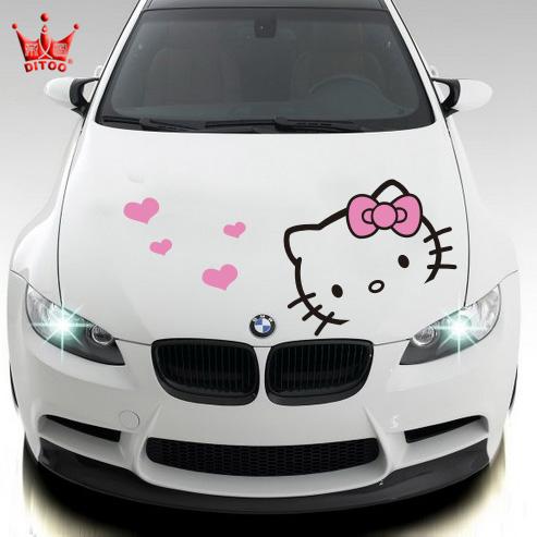 Car Styling Hello Kitty Car Sticker Car Hood Stickers And Decals For