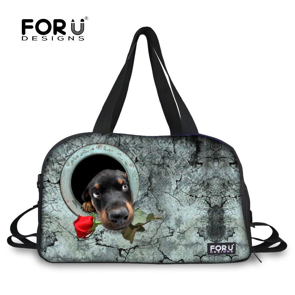 Forudesigns/большой Ёмкость Йога сумка Training для Для женщин Фитнес с принтом собаки независимых обуви Сумочка для хранения 2018 новое поступление