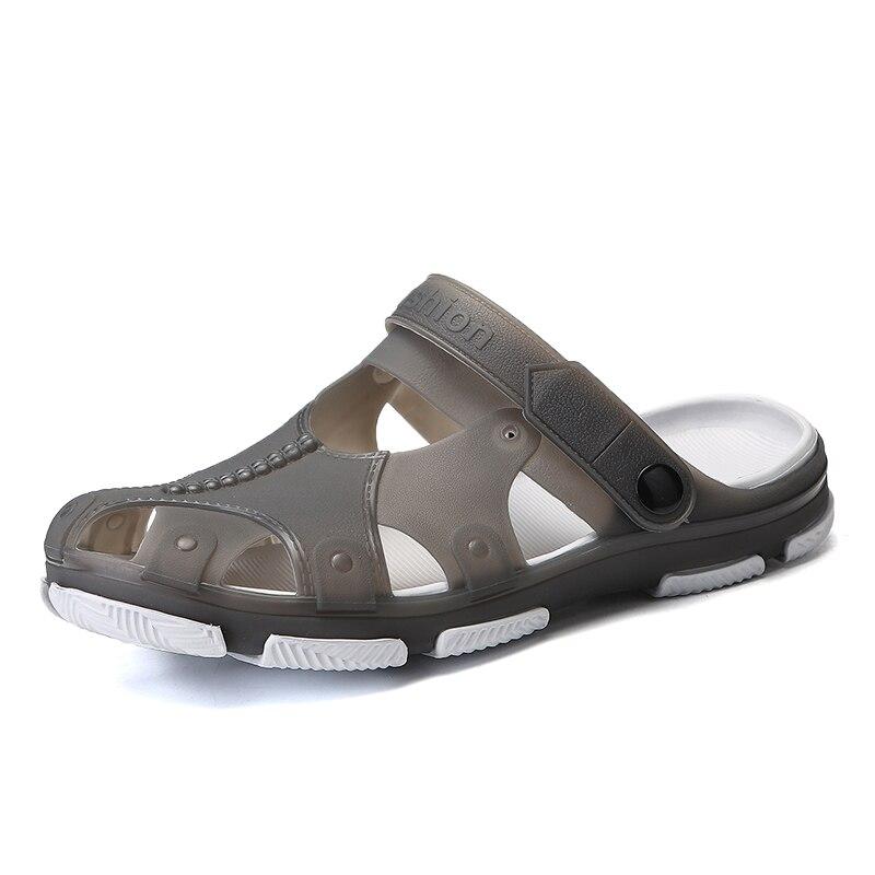 2018 Man Summer Jelly Shoes Men Beach Sandals Hollow Slippers Men Flip Flops Light Sandalias Outdoor Summer Chanclas Breathable