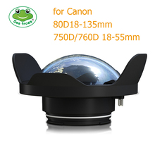 Seafrogs 6 inch Dry Dome Port for Meikon & SeaFrogs DSLR Housings V.1 40M 130FT Compatible Canon EOS 750D 760D 80D