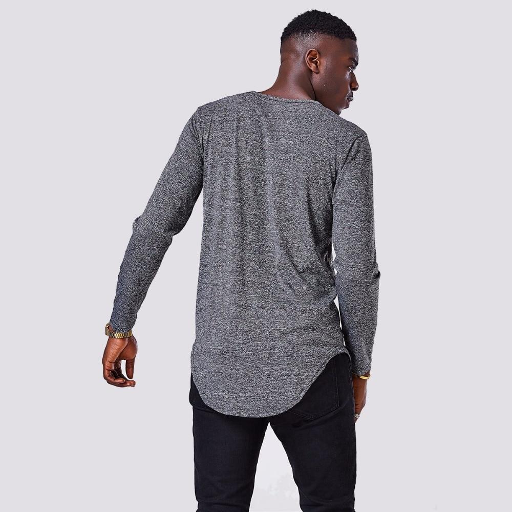 Longline Extended 2017 Lange Moomphya T Rekbare Zachte Shirt Mannen CQdExWroBe