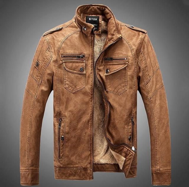 Hot ! High quality new winter fashion men's coat, men's jackets, men's leather jacket free shipping