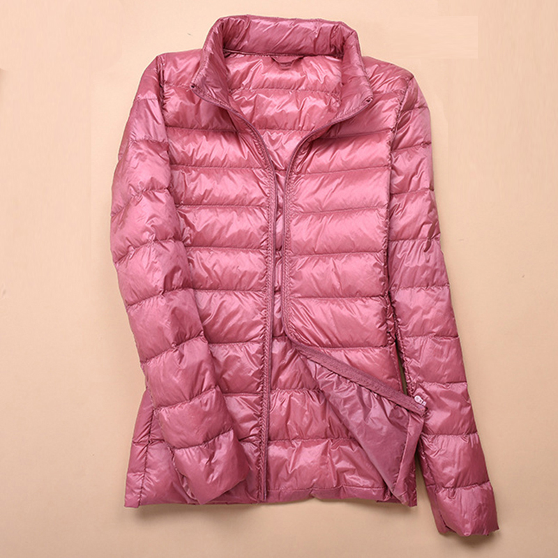 women clothing   down     coat   zipper ultra light female white duck   down   slim long sleeve outerwear warm parka plus size jacket QH0865
