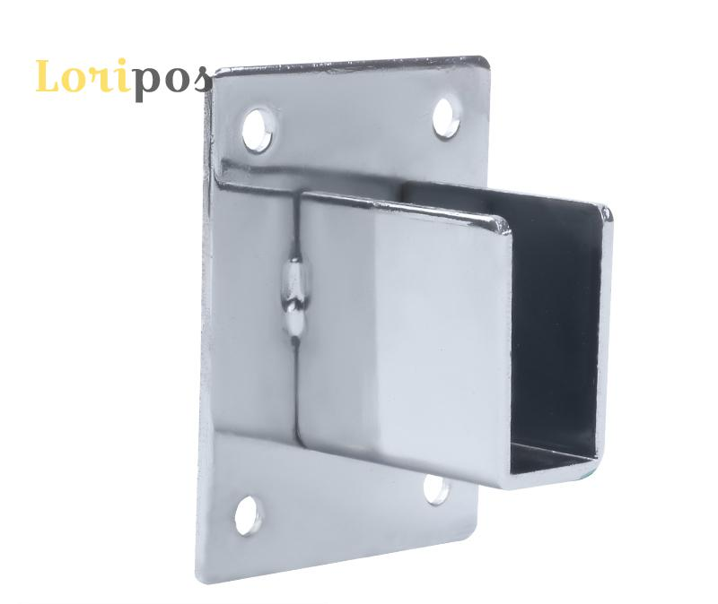 Wall Shelf Mounting Bracket Square Tube Holder Buckle Wall Mounting Hardware Rack Shelf Hanging Hook Mount