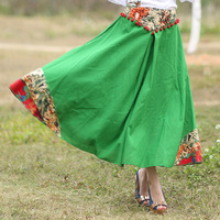 Direct 2016 Spring And Summer New National Style Women S Three Dimensional Waist Big Skirt