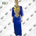 Envío Gratis Africano Dashiki Africano Bazin Riche bazin Vestidos Para Las Mujeres Superior Tradicional Ropa de Encargo Privado Africano dashiki