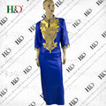 Frete Grátis Africano Dashiki Africano Bazin Riche bazin Vestidos Para Mulheres Superior Privado Tradicional Africano Personalizado Roupas dashiki