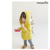 Baby Coat Girls Boys Autumn Clothing New Style Spring Summer Cotton Linen Outwear With Hat Fashion