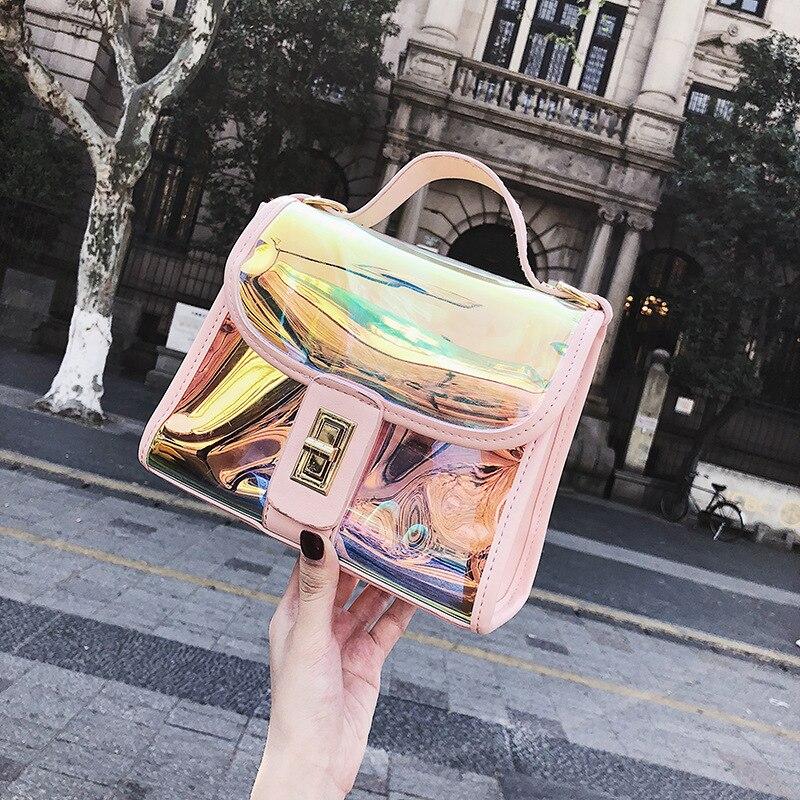 Women Bag New Laser Small Party Bag Hit Color Ms. Shoulder Bag Wild Messenger Bag