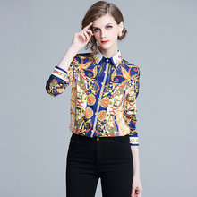 628919bc86f831 High Quality Women Fashion 2019 Runway Designer Shirt Women Long Sleeve  Vintage Blouse Tops Love Print Shirts Blusa Feminina