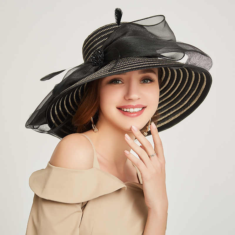 2019 New Ladies Travel Visor Sun Hat Elegant Comfortable Sun Hats for Women Wide Brim Straw Hat Bohemia Summer Beach Raffia Cap