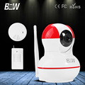 BW HD 720P Dome WiFi IP Camera P2P IR Cut Filter Motion Sensor + Smoke Detector Security Surveillance CCTV Free IOS,Android APP