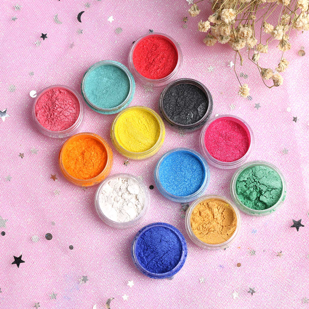 2Pcs Soap Dye Shimmer Mica Powder Pigments Making Eye Shadow Making Cosmetic Candle Resin Artist Toiletry DIY Craft Supplies