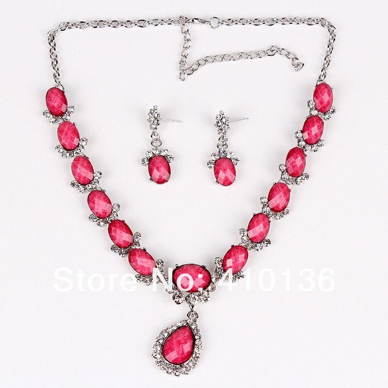 Buy pn12535 fashion jewelry sets wedding for Pink wedding jewelry sets