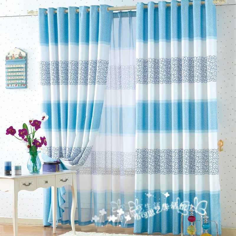Aliexpress Buy Free Shipping Finished Curtains Mediterranean Living Room Drawing Curtain Blue Coffee Grey From Reliable