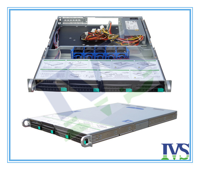 Huge Storage Hot-swap  R16504N Supporting 4bays With Mini-sas Backpland Hot-plugged 1U Rack Mount Server Case For NVR Etc.