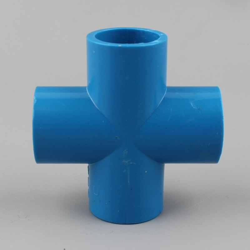 PVC 20 25 32 40 50mm conector de Cruz 4 vías conector rápido accesorios de tubería de plástico pecera junta de jardín accesorios de riego