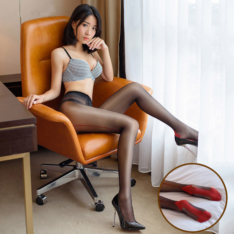 2017 Sexy Black High Waist Shiny Tights Glossy Oil -8816