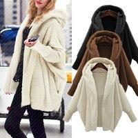Winter Warm Faux Fur Coats Women Hoodies Sweatshirts 2018 Autumn Long Sleeve Hooded Top Solid Fur Jackets Outerwear Plus Size