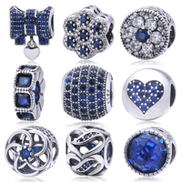 100 Real 925 Sterling Silver Purple Crystal Love Hearts Charms Beads Fit Pandora Charm Bracelet Authentic