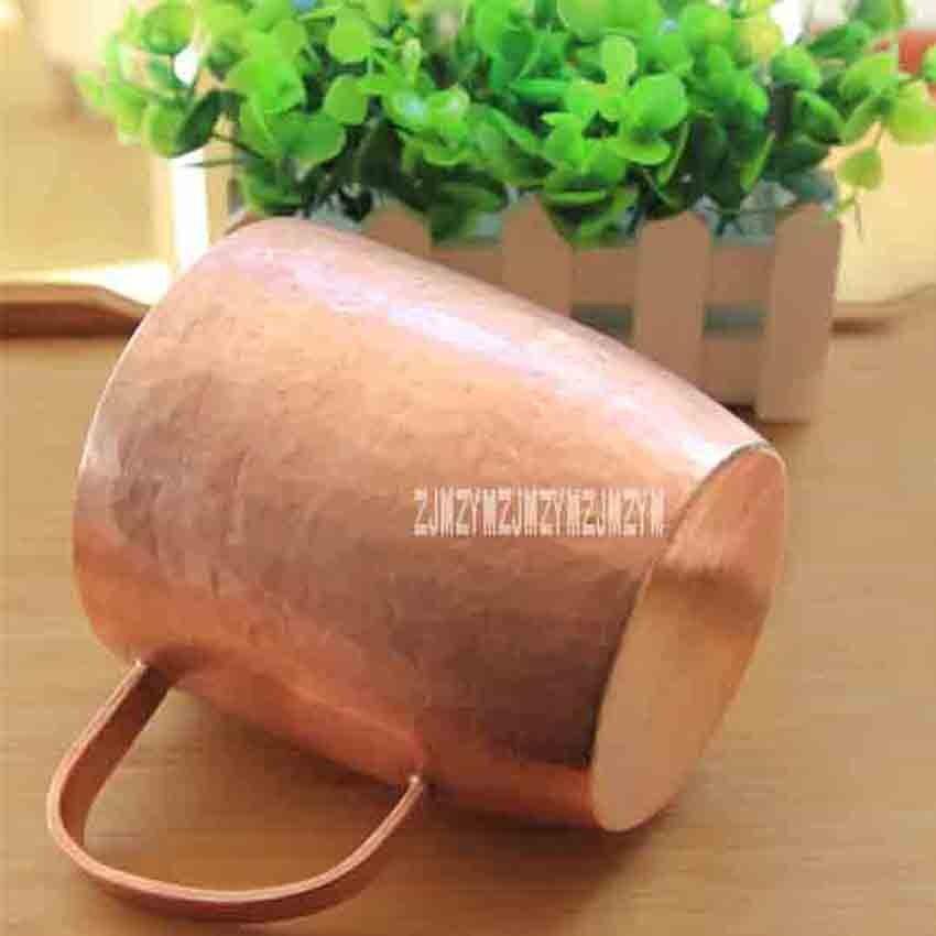 Tasse à thé classique en cuivre pur tasse à thé faite à la main épais solide poli de haute qualité tasses en cuivre rouge artisanal tasse avec couvercle 650 ml