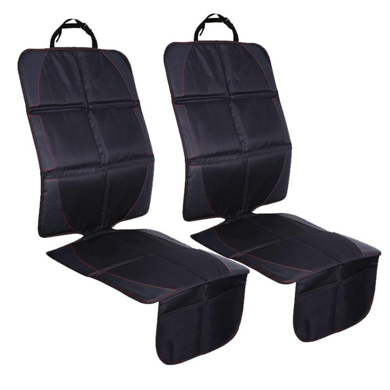 2pcs 123x48cm Car Seat Protective Mats Leather + Oxford + Cotton Auto Car Protector Baby Kids Seat Pads for Car Protection