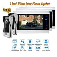 New 7 Inch 1200TVL Video Intercom System Door Phone Doorbell With IP65 Wide Angle 110 Degree