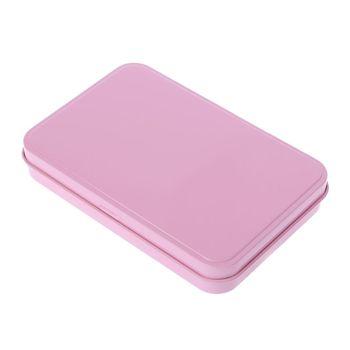 Pink Organizer Case Small Metal Storage Box For Currency Money Candy Key Eye Shadow Portable tanie i dobre opinie