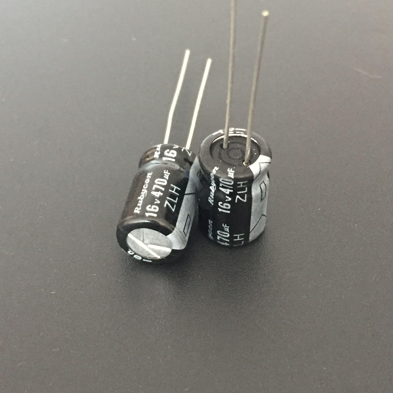 10pcs 470uF 16V JAMICON WL 16V470uF Low Impedance Electrolytic capacitor 8x11.5