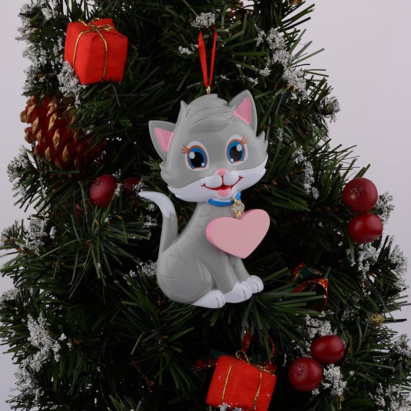 Kitty Cat Resina Adorno navideño brillante con pintado a mano y - Para fiestas y celebraciones - foto 4