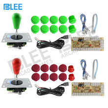 BLEE 2 players Arcade DIY Kit Zero Delay USB Controller PC Sanwa Joystick with Oval ball Push Buttons for PC PS3(China)