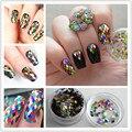 1 Caja de 2mm Rombo Paillette Lentejuelas de Colores Glitter Nail Art Decoración de Uñas
