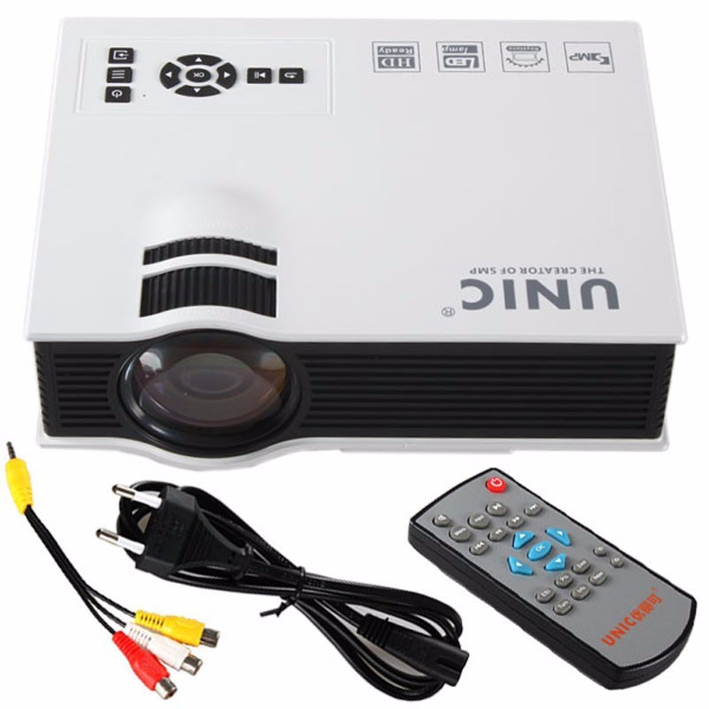 Original UNIC UC40+ LED Projector 3D Mini Pico Portable Home Theater Beamer Multimedia Proyector Full HD 1080P Video VGA HDMI