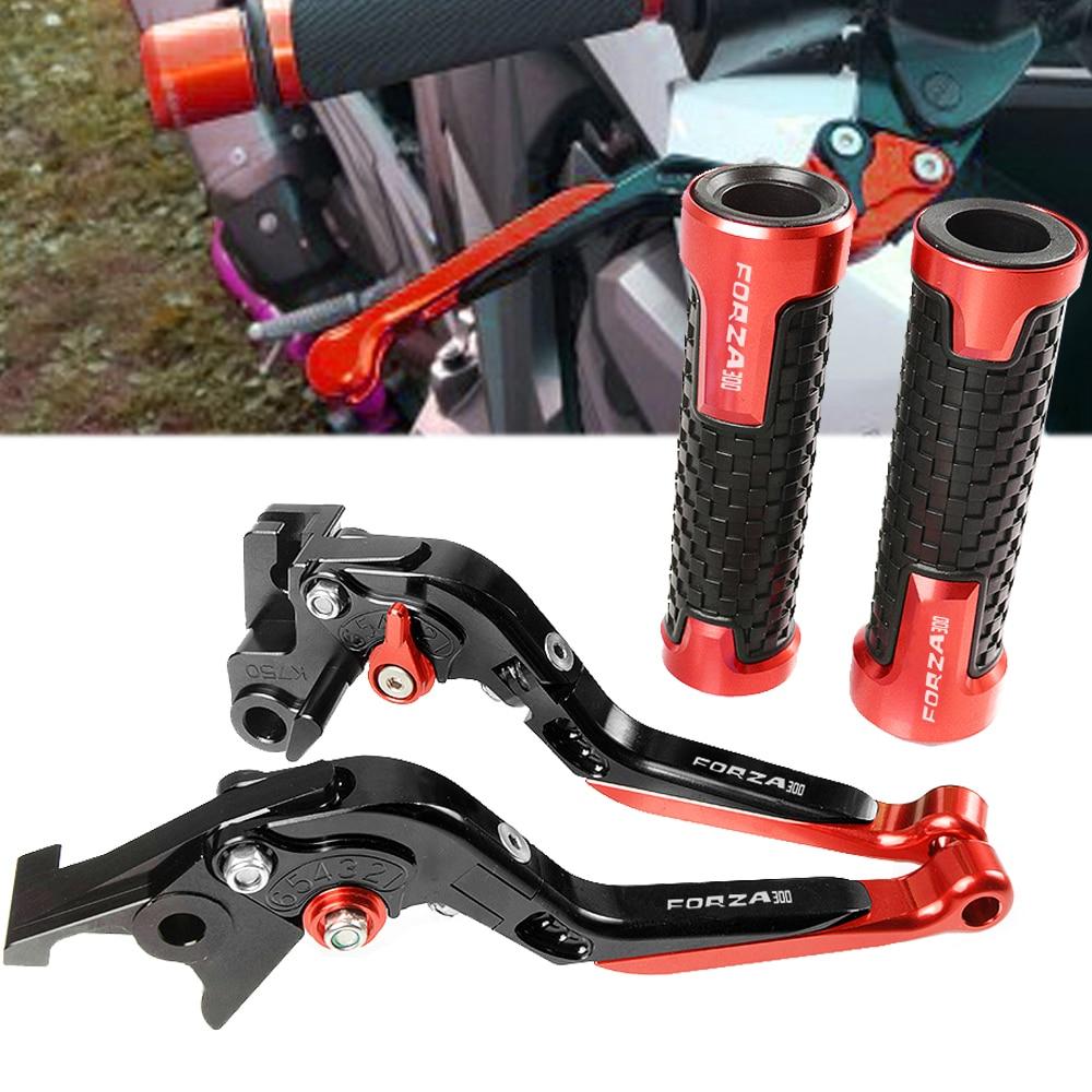 Pour HONDA FORZA 300 Forza300 2010-2019 2011 moto CNC poignée en aluminium levier d'embrayage de frein et poignée poignée poignées ensemble