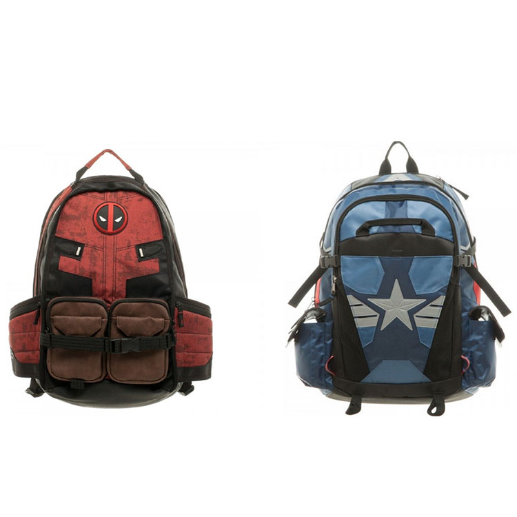 New Marvel Deadpool Captain America Laptop Backpack Good Quality Unisex School Bags Travel Bag Cosplay Backpacks famous brand school backpack the avengers captain america iron man fashionable laptop backpacks high quality leather