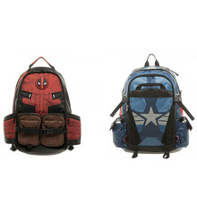 New Marvel Deadpool Captain America Laptop Backpack Good Quality Unisex School  Bags Travel Bag Cosplay Backpacks 12737bab17fbb