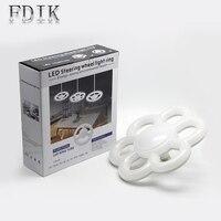 LED Pendant Lihgt E27 Circular Tube LED light Ring Lamp AC85 265 Steering Wheel Led Lamparas warm white colorful cold white