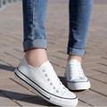 Summer low white canvas Women casual shoes student couple shoes  blue black red plus size