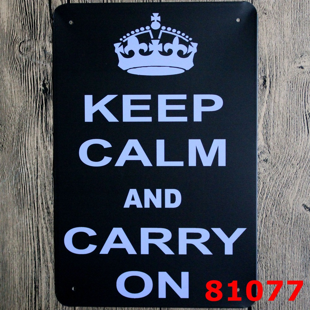 Christmas Decoration!!Keep Calm AND Carry On letters Poster Tin Sign ...