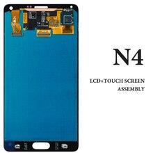 5 шт. 5.7 дюймов Серый Белый Дисплей для Samsung Note 4 N9100 N910F N910A N910V ЖК-дисплей смартфон Экран Замена для samsung Note 4