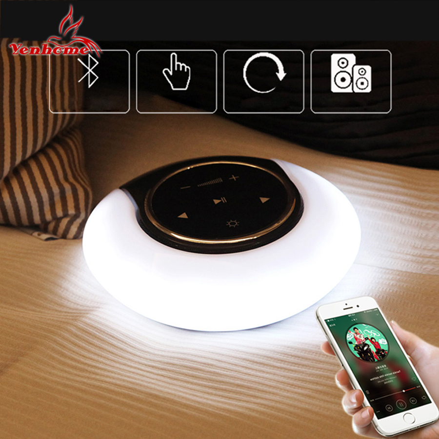 LED Wireless Bluetooth Audio Music Night Light Creative Smart Speaker Rechargeable Dimmable Atmosphere Table Lamp Exquisite Gift led night lamp decorate dream bluetooth voice speaker christmas ever fresh flower creative music box rechargable desk light gift