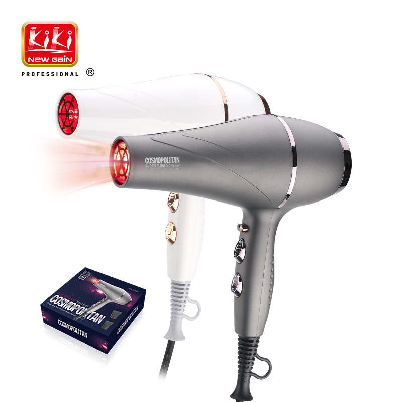 KIKI Far Infrared Professional Hair Dryer With AC Motor.1875W.Super Turbo.Hot Sale.PA Housing.styling Tools.hair Drier