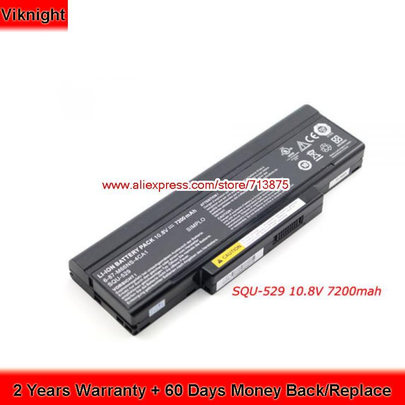 Original Battery for MSI SQU-529 CBPIL48 BTY-M66 M740BAT-6 E500 M660BAT-6 SQU-528 BTY-M68 10.8V 7200mAh jigu laptop battery for lg asus ed500 m740bat 6 m660bat 6 m660nbat 6 squ 524 squ 528 squ 529 squ 718 bty m66 bty m67 bty m68