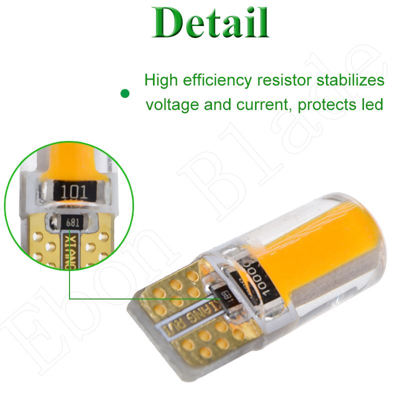 Image 4 - 2 X Yellow Amber Led T10 W5W COB Car LED Lighting Marker Lamp Interior Side Light Warning Parking Clearance Bulb Lights 12V Auto-in Signal Lamp from Automobiles & Motorcycles