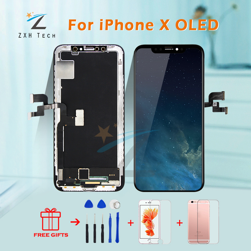 Mobile Phone LCD For iphone X 3D Touch Screen Digitizer Good Quality AMOLED OEM For iphone