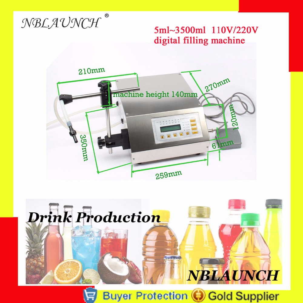 Digital Control Filler For Liquid Drink Beer Milk Vinegar Perfume Water Oil Eliquid Filling Machine Electric Free Shipping