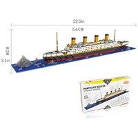Nuovo Mini Nano Micro Building Block Titanic Blocco 66503 In Miniatura building blocks Spedizione gratuita