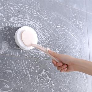 Image 2 - 1pcs Escova Punho Longo Escova de Limpeza Escova de Lavar Louça Tigelas Panelas Escova De Limpeza Da Esponja de Cozinha Ferramentas Limpas Acessórios Do Banheiro limpador de vidro utensilio de cozinha criativos