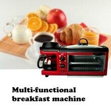 DMWD, многофункциональная, 3 в 1, для завтрака, хлебопечка, тостер, мясо, гриль для выпечки/жареное яйцо/кофе, жаровня, электрическая духовка для дома