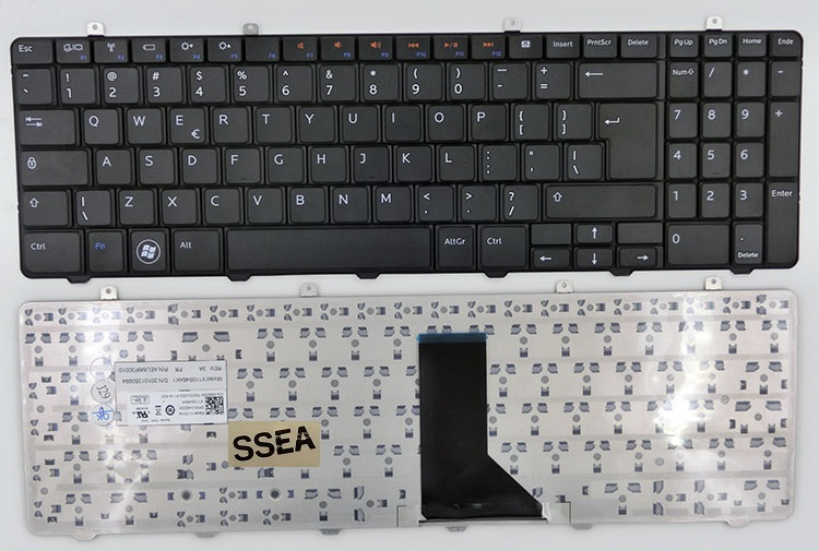 SSEA Free Shipping New laptop Keyboard for DELL INSPIRON 1564 I1564 US Original Keyboard|keyboard for dell|laptop keyboard|keyboard for laptop - title=